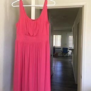 coral color dress